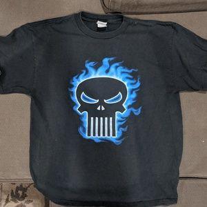 MARVEL The Punisher flaming skull t-shirt